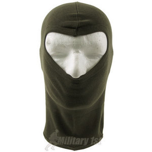 Lightweight Cotton 1 Hole Balaclava Olive