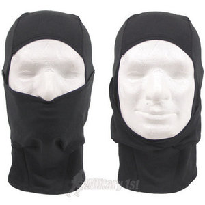 Lightweight Spandex 1 Hole Balaclava Black