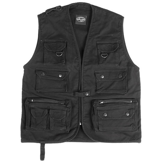 Moleskin Fishing Vest Black Preview