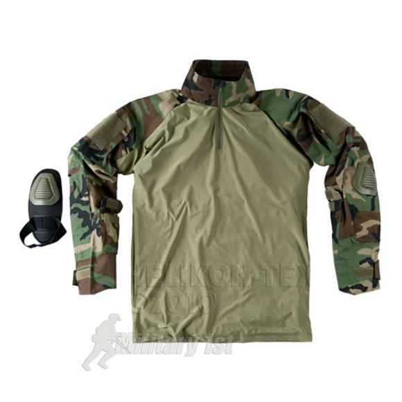 Helikon Combat Shirt with Elbow Pads Woodland