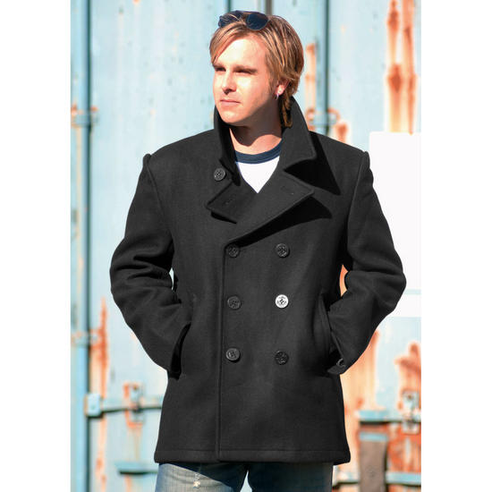 Mil-Tec US Navy Pea Coat Black Preview