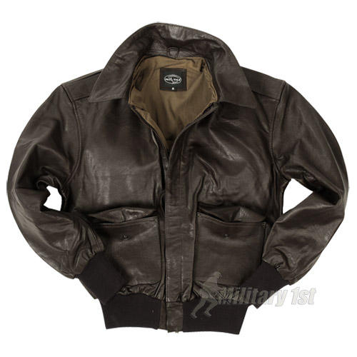 Mil-Tec A-2 Leather Flight Jacket Brown Preview