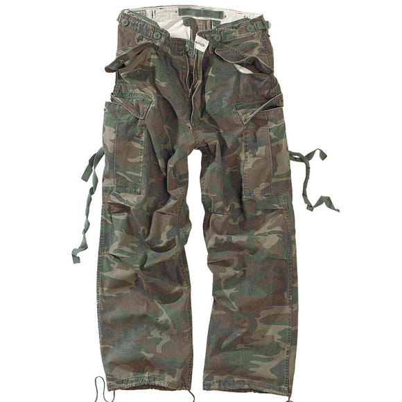 Surplus Vintage Fatigues Trousers Woodland