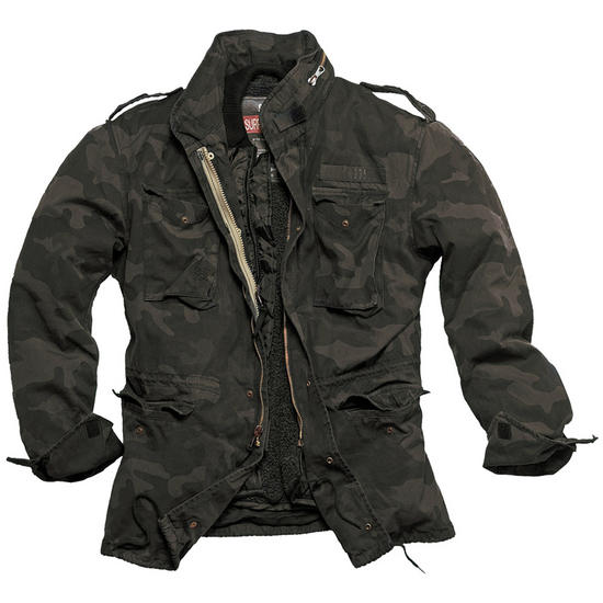 Surplus M65 Regiment Jacket Black Camo Preview