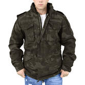 Surplus M65 Regiment Jacket Black Camo Thumbnail 3