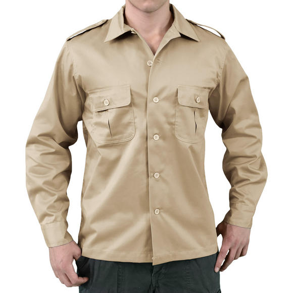 Surplus US Shirt Long Sleeve Beige
