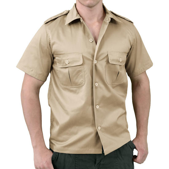 Surplus US Shirt Short Sleeve Beige