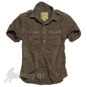 Surplus Raw Vintage Short Sleeve Shirt Brown