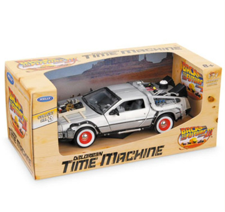 Welly Back to the Future III Delorean Time Machine Scale 1:24 Diecast Collectors