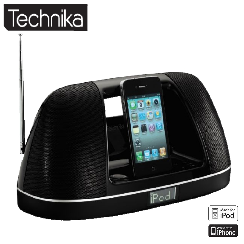 TECHNIKA PORTABLE SPEAKER FOR IPHONE/IPOD + FM RADIO