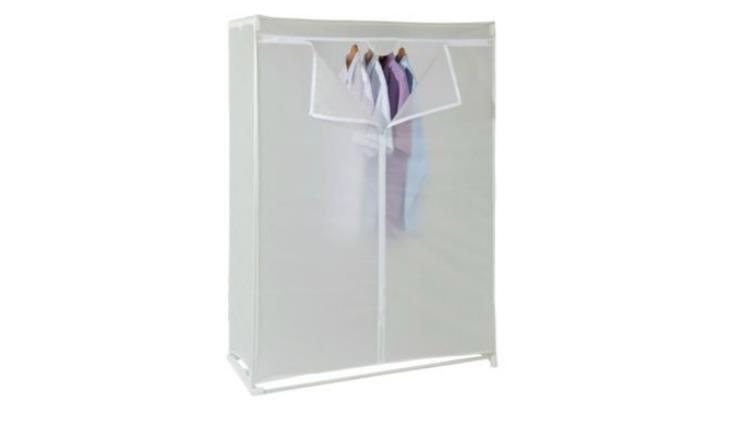 Tesco Double Covered Tidy Rail Wardrobe Plastic Requires