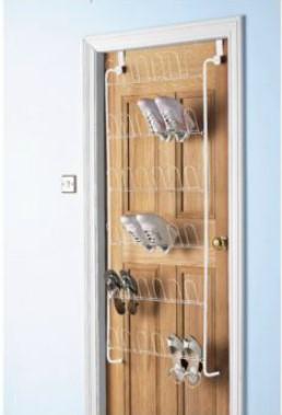 tesco over the door shoe rack 18 pair of shoes capacity. Black Bedroom Furniture Sets. Home Design Ideas