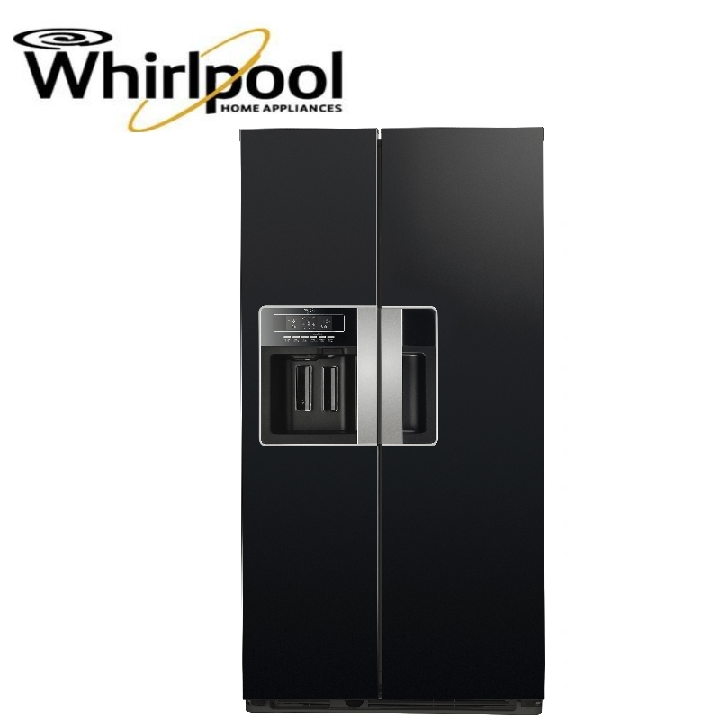 American Fridge With Ice Dispenser Part - 35: WHIRLPOOL WSG5588AM AMERICAN FRIDGE FREEZER IN-DOOR ICE DISPENSER - BLACK