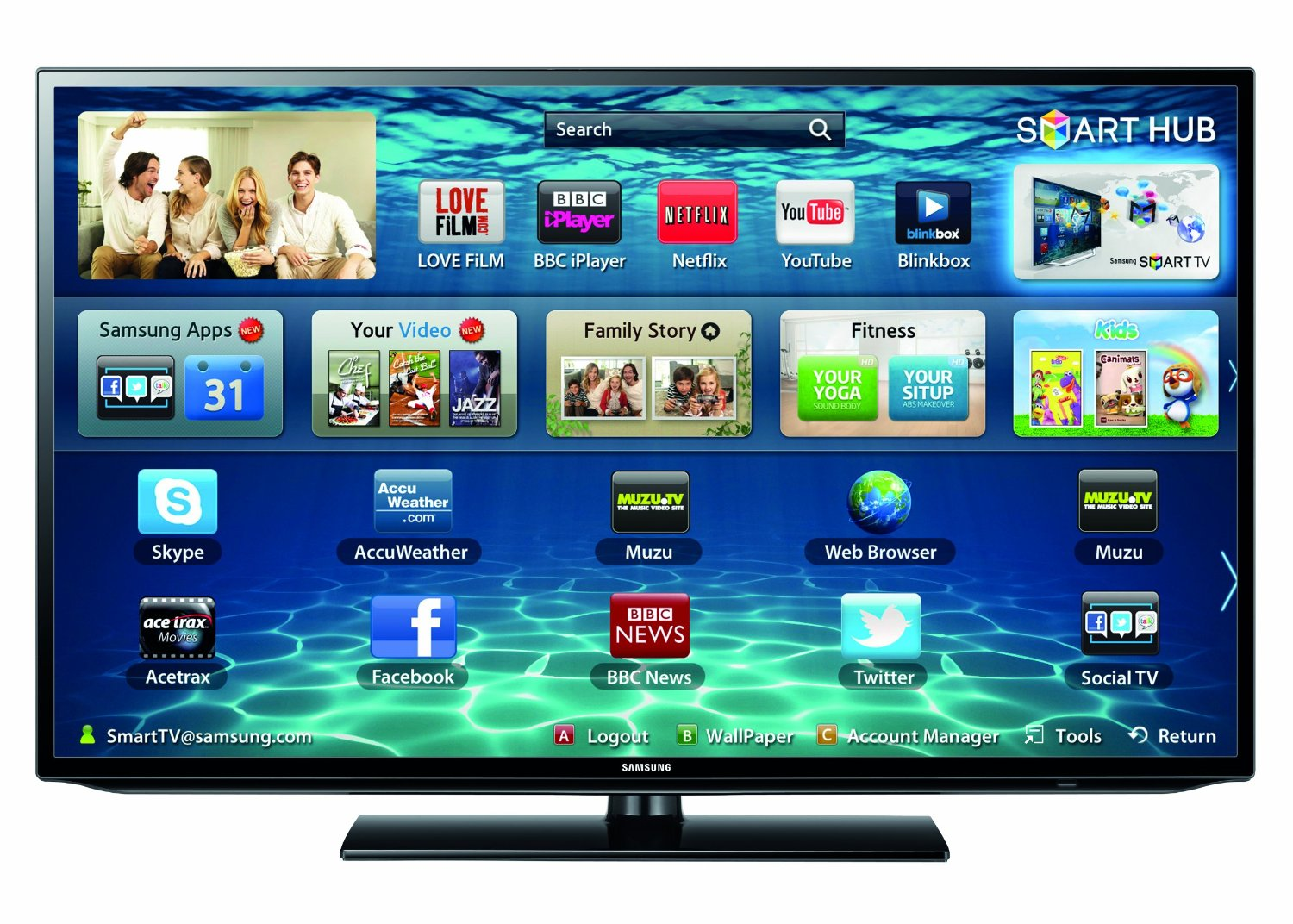 samsung 40 inch smart tv. samsung ue40f5300 series 5 40 inch smart tv
