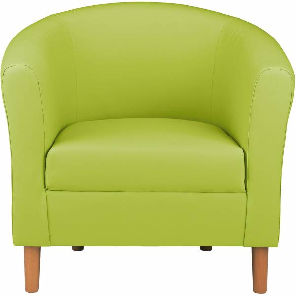 Tesco Tub Chair Leather Effect Lime Green Contemporary