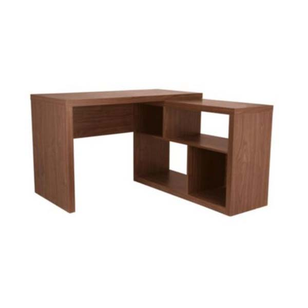 seattle corner desk walnut effect 4 shelves self assembly. Black Bedroom Furniture Sets. Home Design Ideas