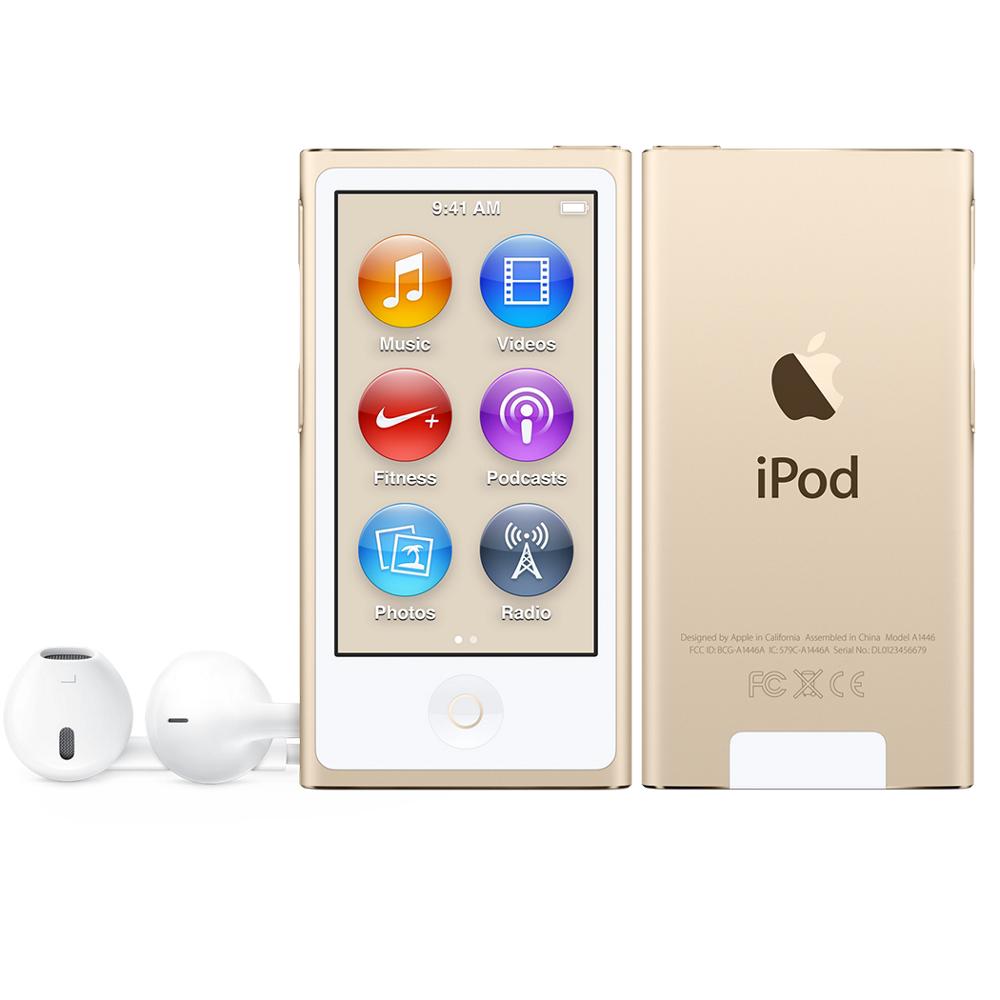 apple ipod nano 8th gen mkmx2qb a 2 5 gold 16gb storage. Black Bedroom Furniture Sets. Home Design Ideas