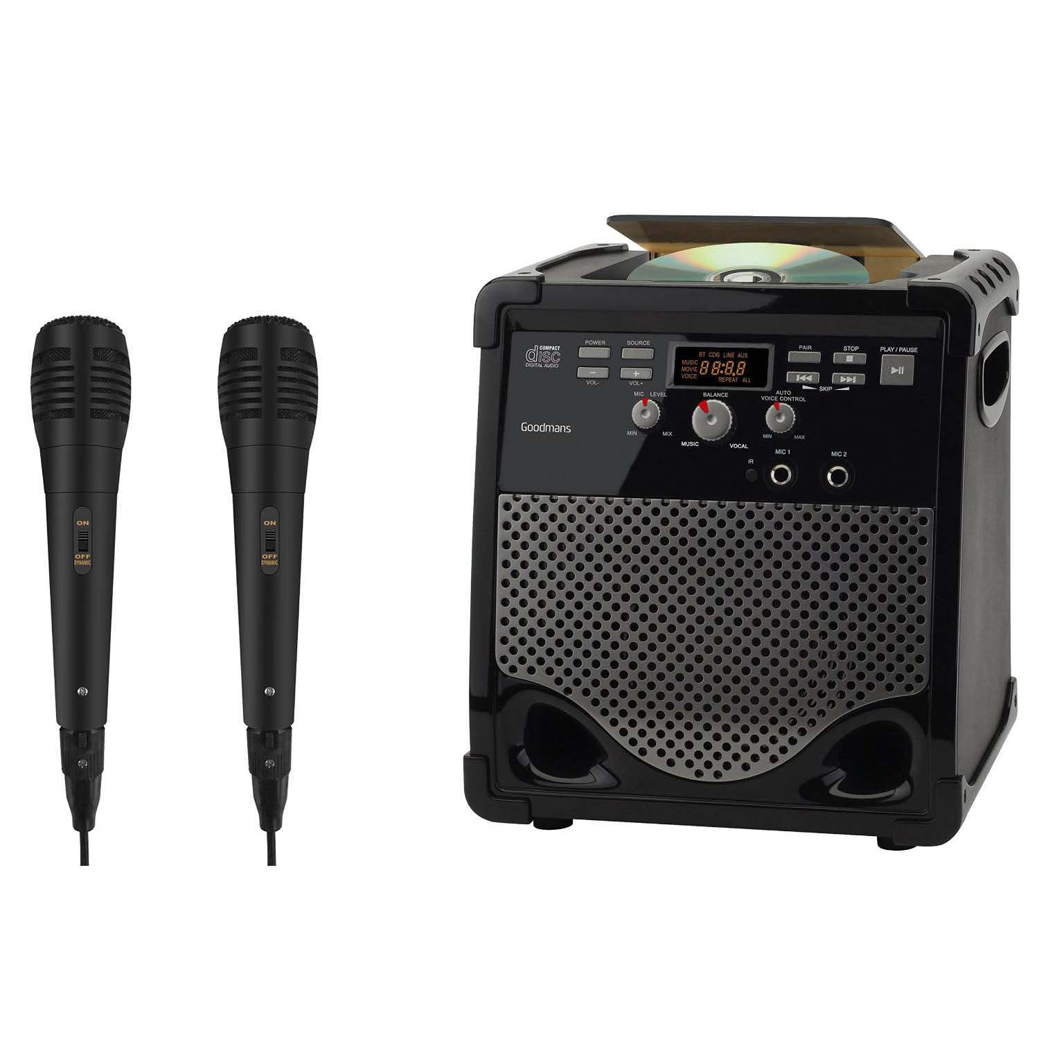 karaoke machine with 2 microphones