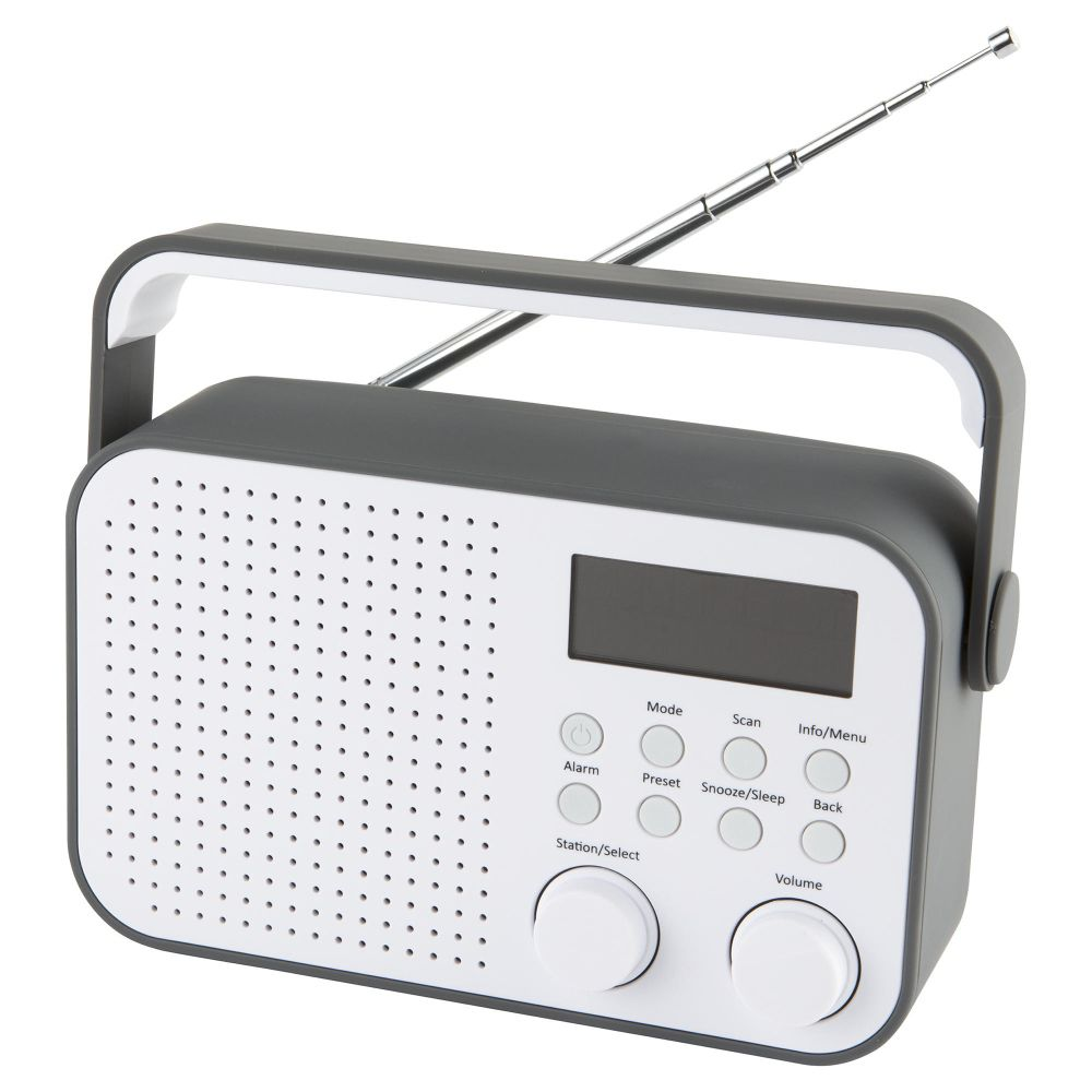 tesco dr1404g dab digital radio grey 20 preset stations. Black Bedroom Furniture Sets. Home Design Ideas
