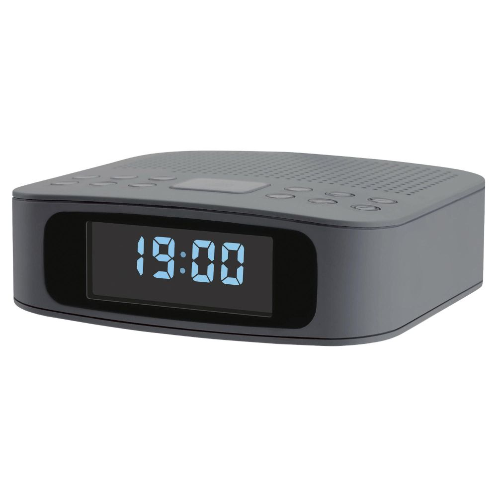 tesco dcr1401g dab digital clock radio grey with alarm clock snooze unit only ebay. Black Bedroom Furniture Sets. Home Design Ideas