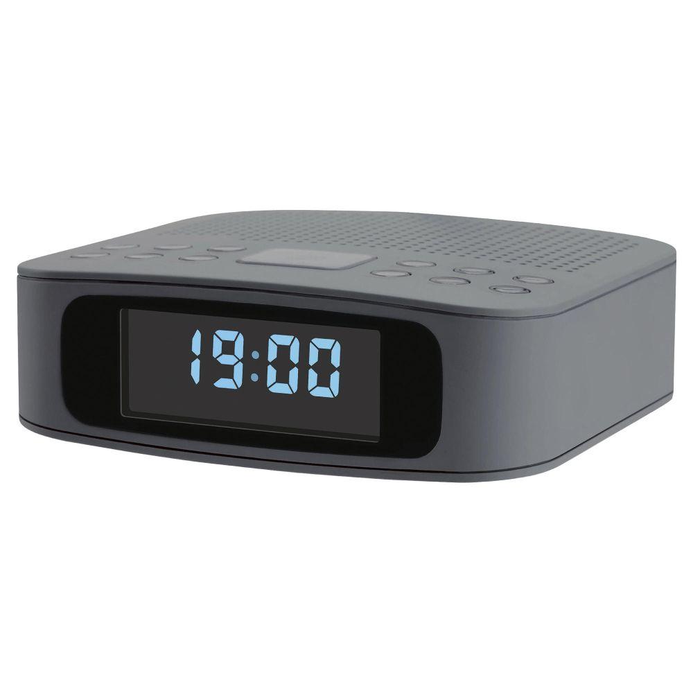 tesco dcr1401g dab digital clock radio grey with alarm clock snooze uni. Black Bedroom Furniture Sets. Home Design Ideas