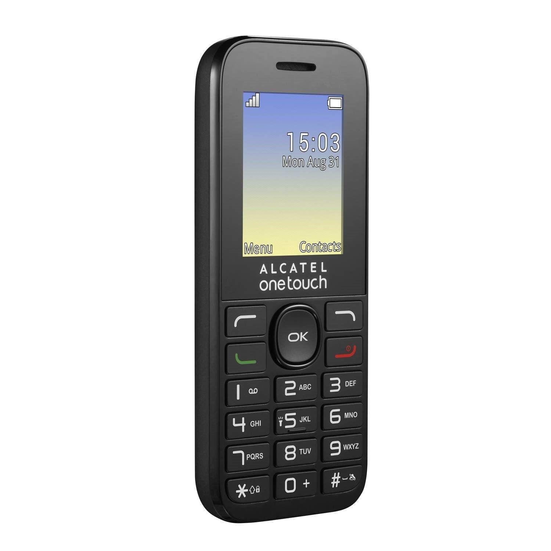 alcatel onetouch mobile phone black 1 8 screen. Black Bedroom Furniture Sets. Home Design Ideas