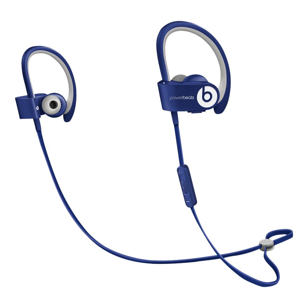 beats by dr dre powerbeats 2 wireless bluetooth in ear headphones blue unit only ebay. Black Bedroom Furniture Sets. Home Design Ideas