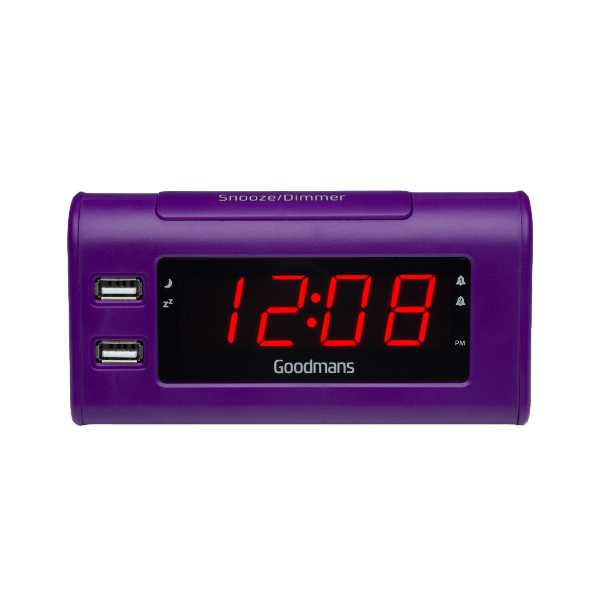 nod digital fm radio alarm clock with usb charging goodmans nod dab digital fm radio alarm. Black Bedroom Furniture Sets. Home Design Ideas