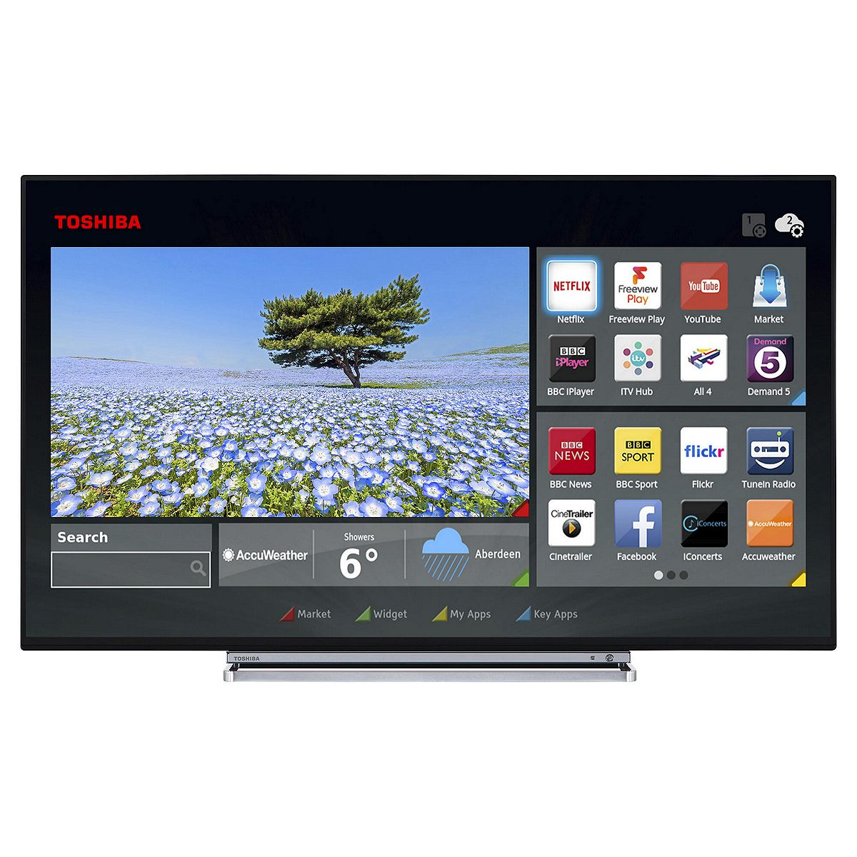 toshiba 43u6763db 43 smart led tv ultra hd 4k freeview hd wi fi damaged box ebay. Black Bedroom Furniture Sets. Home Design Ideas