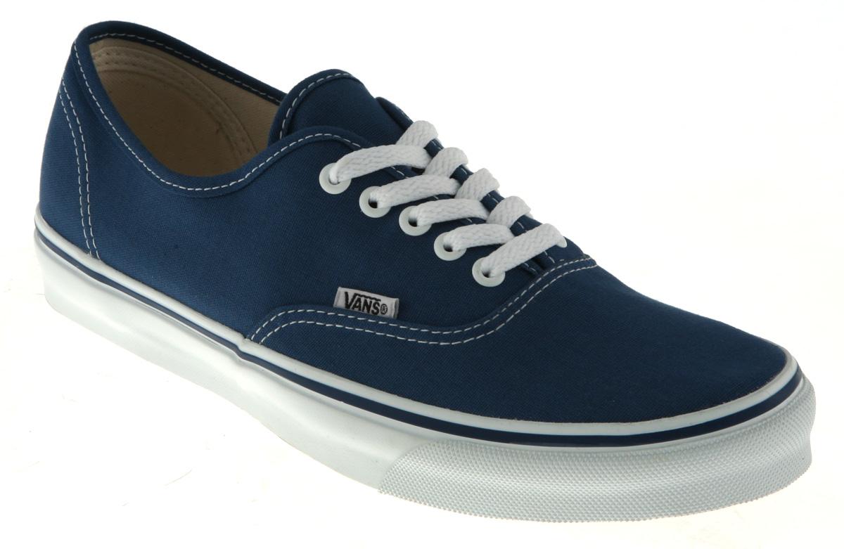 vans authentic navy blue trainers shoes ebay