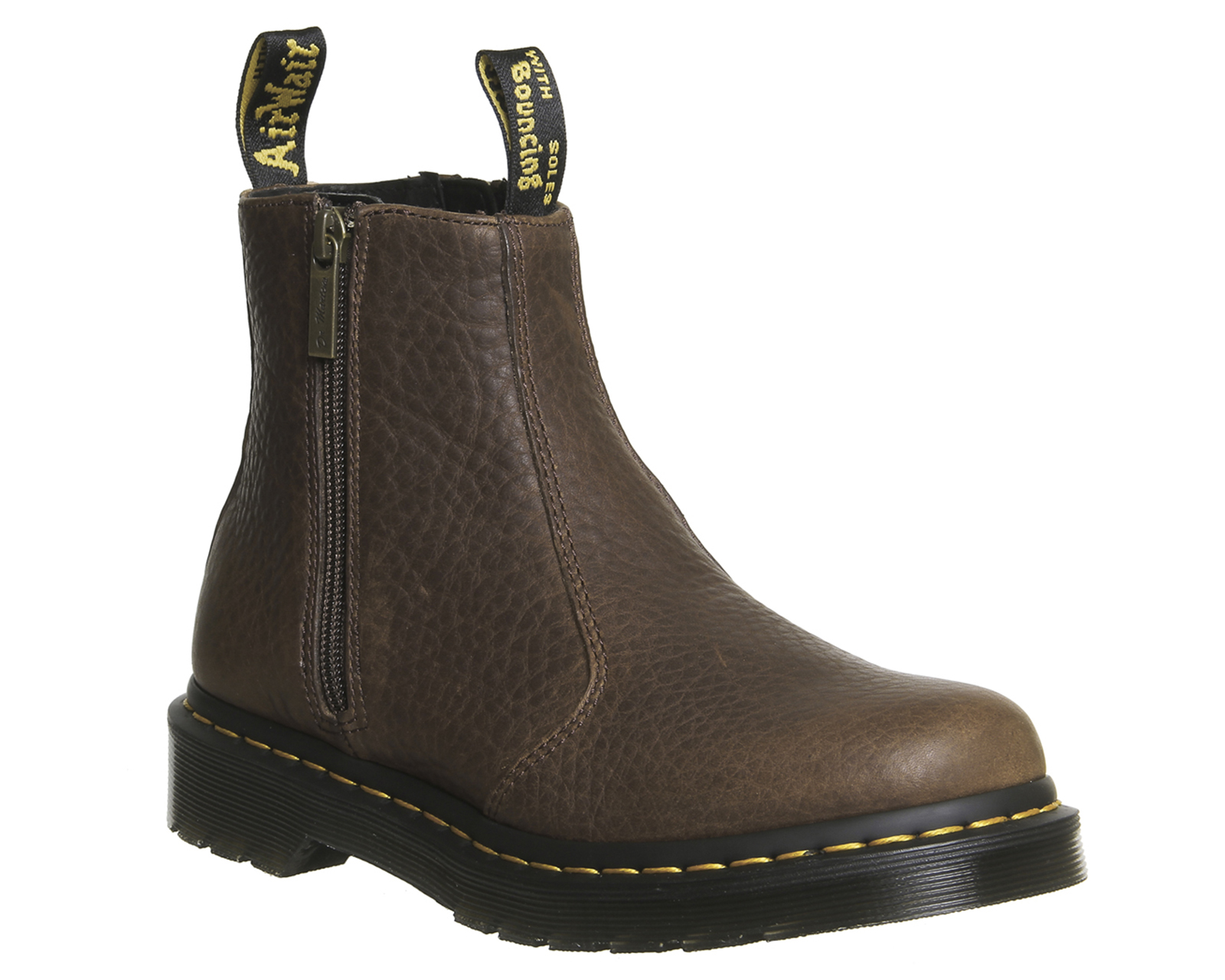 womens dr martens 2976 zip chelsea boots dark brown leather boots ebay. Black Bedroom Furniture Sets. Home Design Ideas