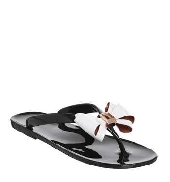 fb0c6d5884620c Womens Ted Baker Rafeek Flip Flop BLACK CREAM Sandals