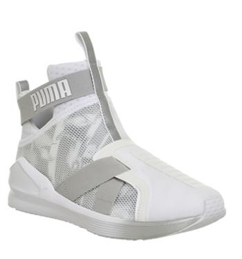 Womens Puma Fierce Strap SWAN WHITE WHITE Trainers Shoes