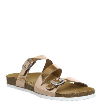 31dc0c43a376 Womens Office Bounty Cross Strap Footbed ROSE GOLD Sandals