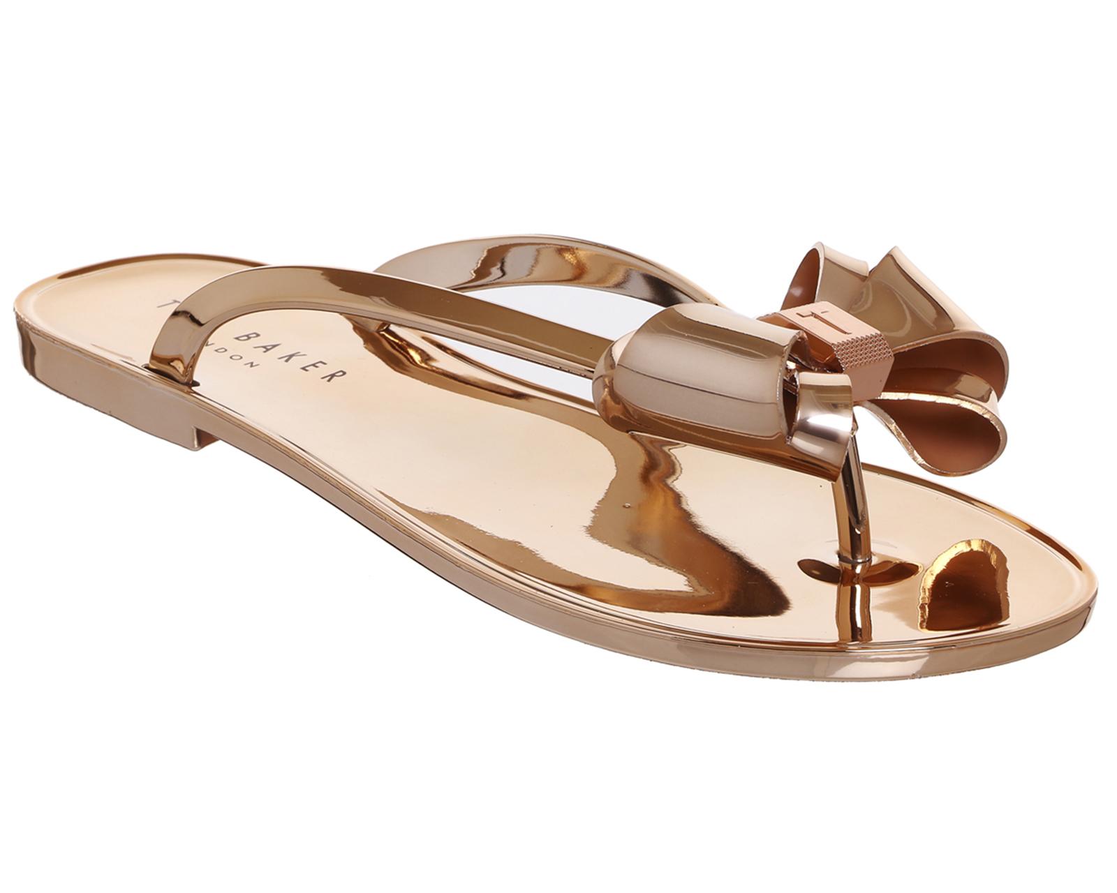 womens ted baker glamaar flip flop rose gold sandals ebay. Black Bedroom Furniture Sets. Home Design Ideas