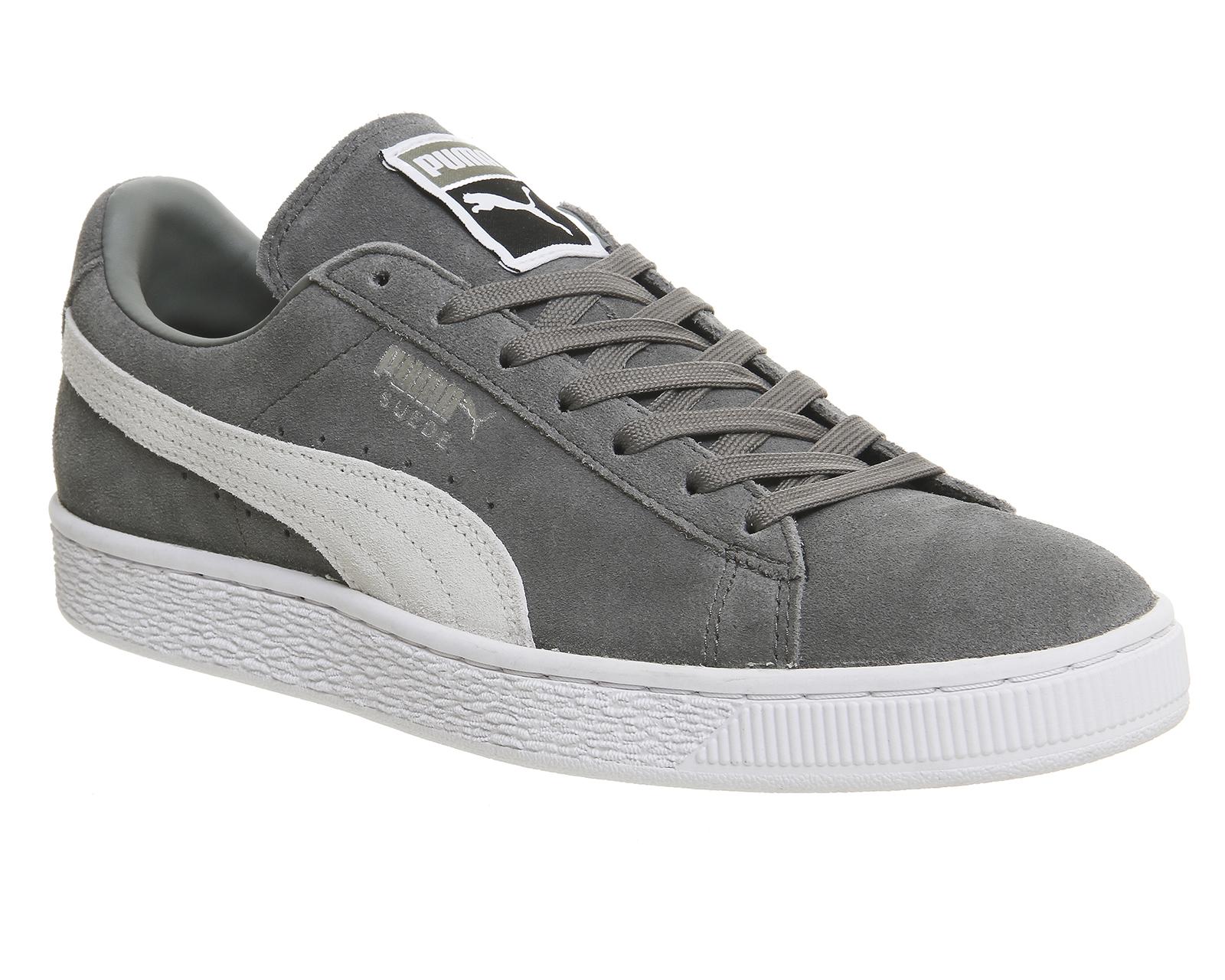 puma suede classic grey white Sale,up