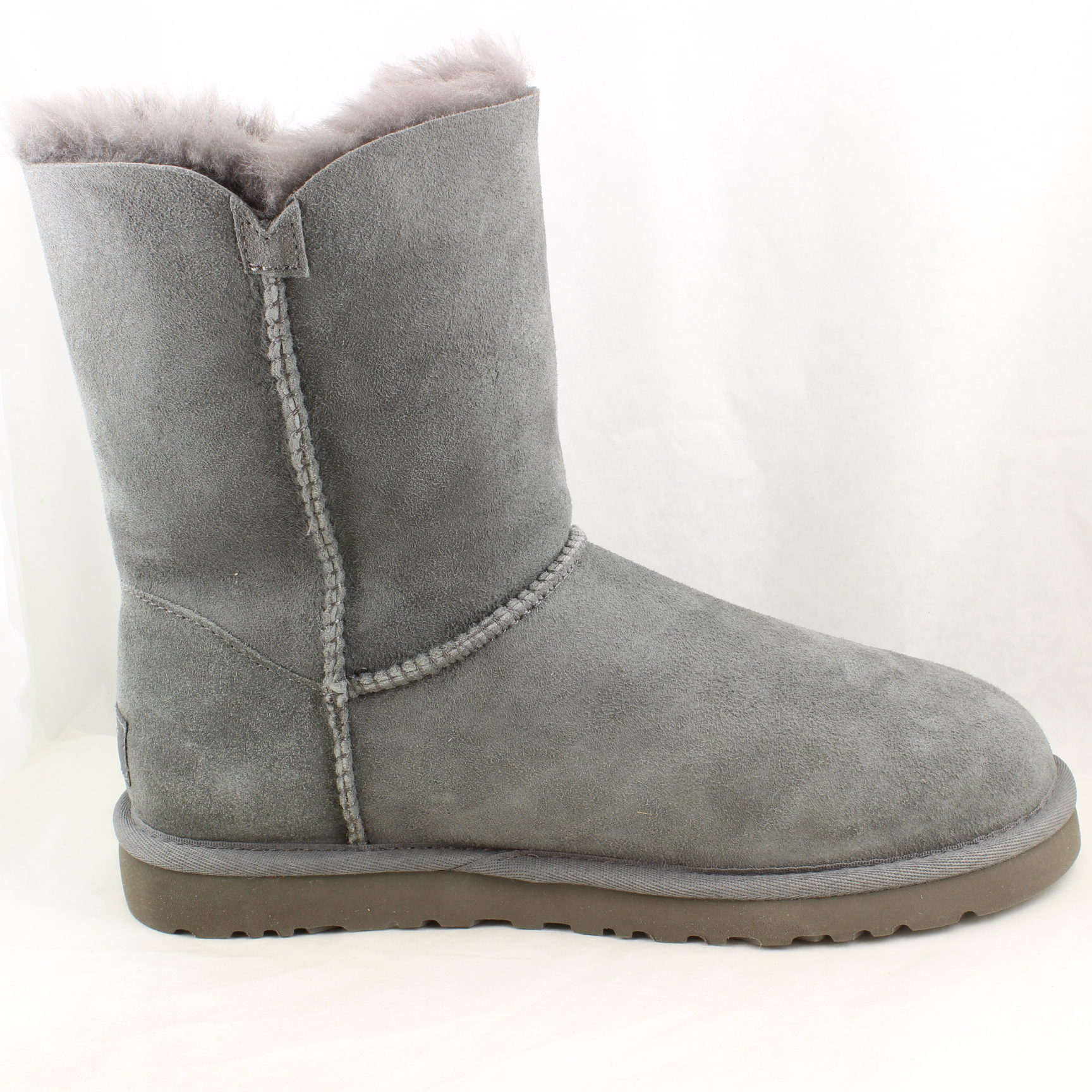 womens ugg australia pull on grey suede boots uk size 5 5
