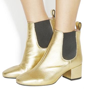 Womens Office Love Bug Block Heel Chelsea Boots