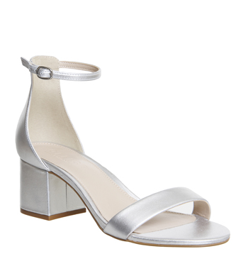 c002f5b4c21 Womens Office Finley Block Heel Sandals SILVER LEATHER Heels