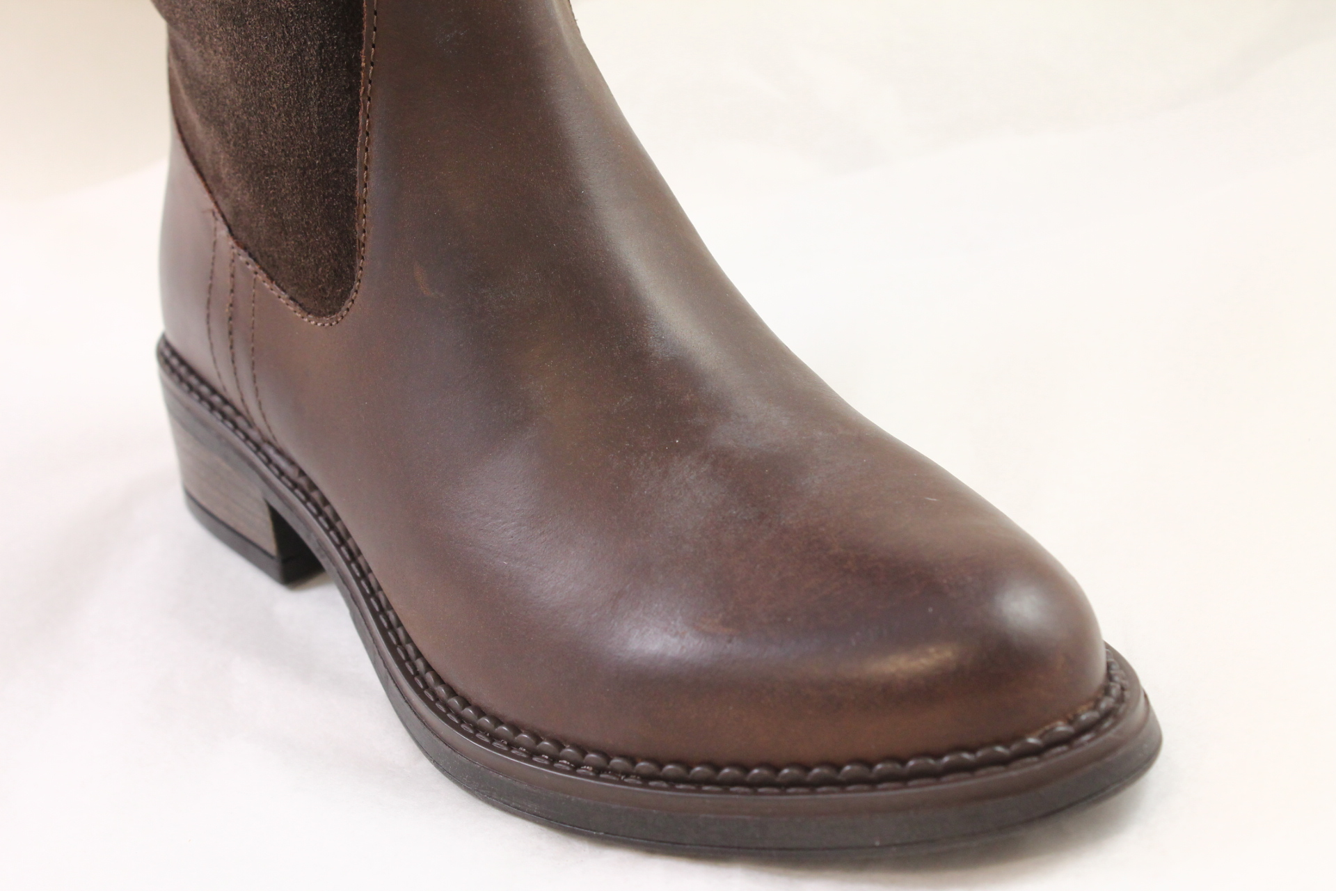 womens office emmett casual suede knee boots brown leather
