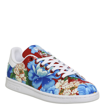 adidas floral shoes stan smith