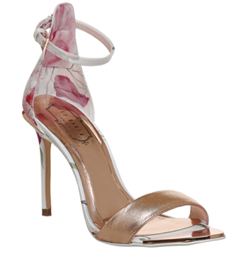 3904985695b Womens Ted Baker Charv Strappy Heels SKETCHBOOK ROSE GOLD Heels