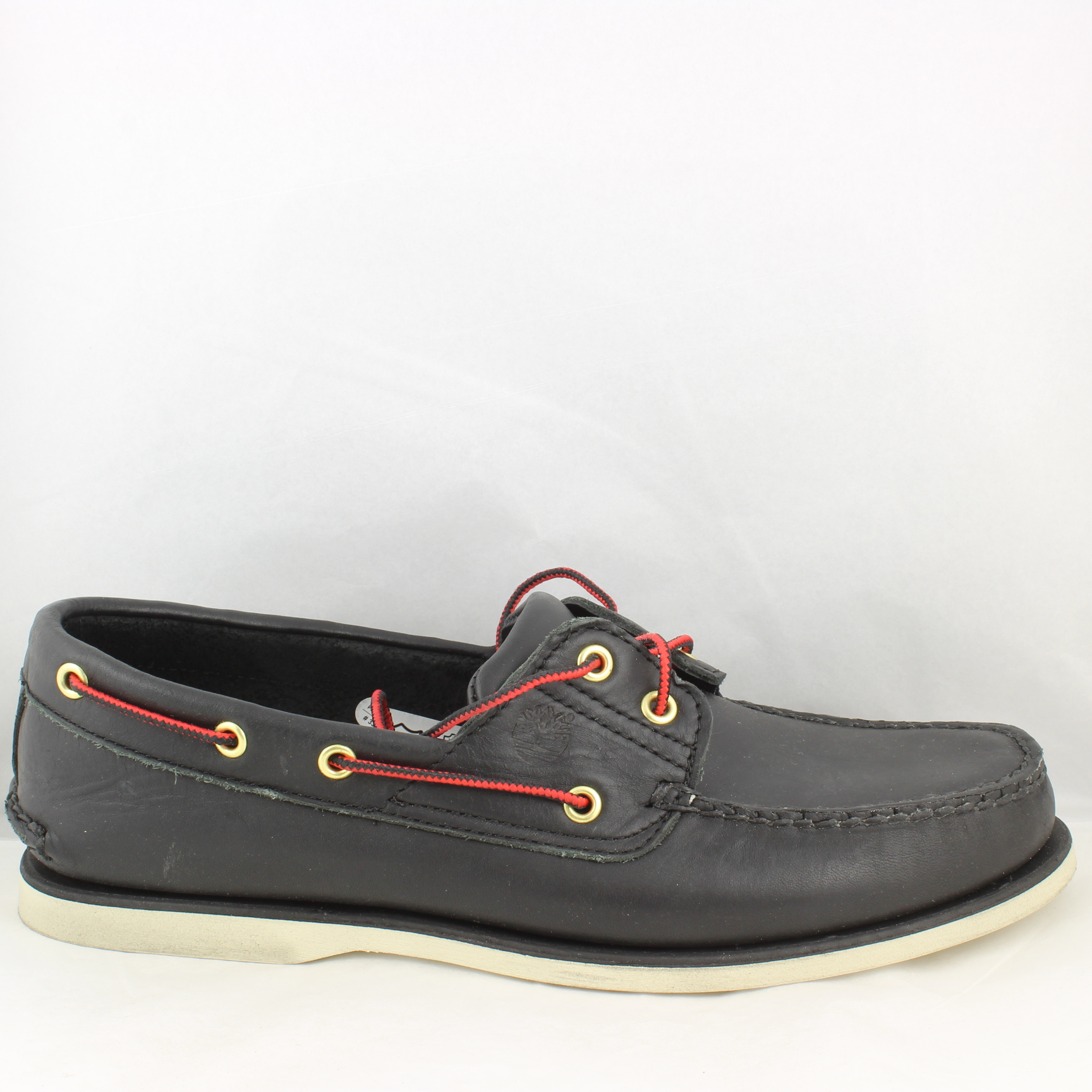 mens timberland black leather deck shoes uk size 10 ex