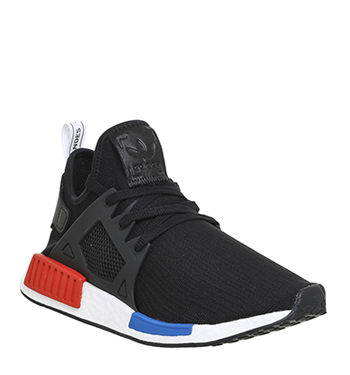 ADIDAS NMD XR1 OG Black Red Blue Boost Primeknit PK Size 11