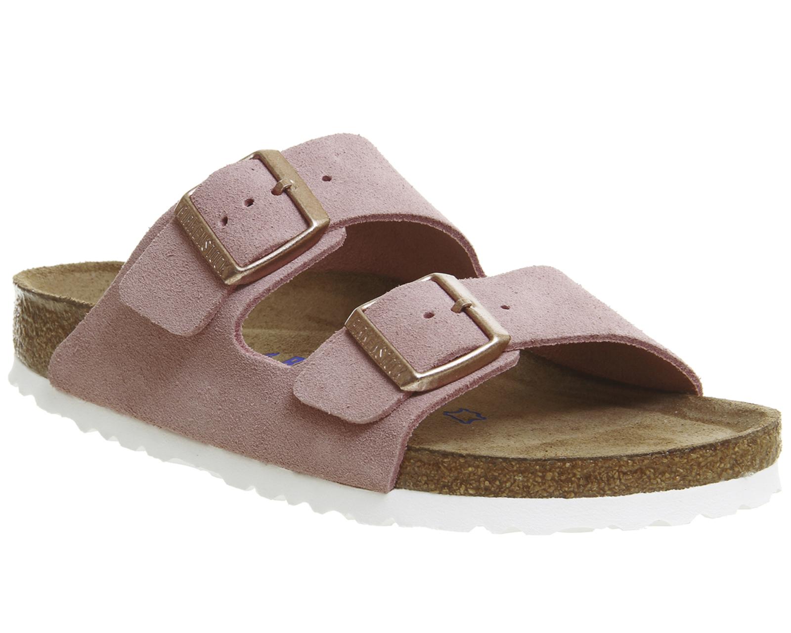 womens birkenstock arizona two strap sandals rose suede. Black Bedroom Furniture Sets. Home Design Ideas