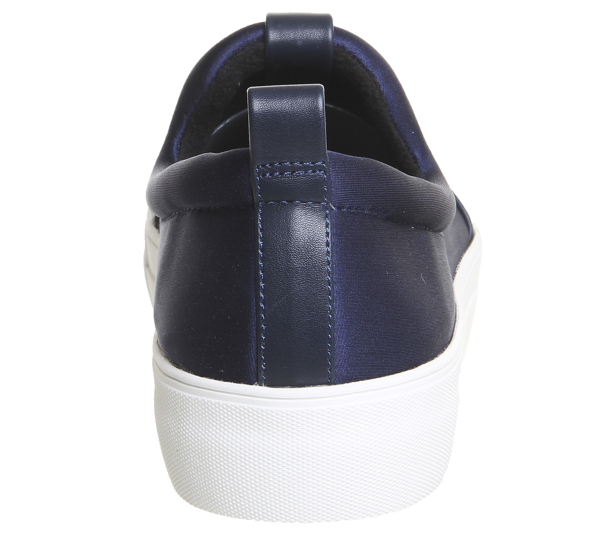 Womens Office Clash Jewel Toe Cap Slip On Navy Flats