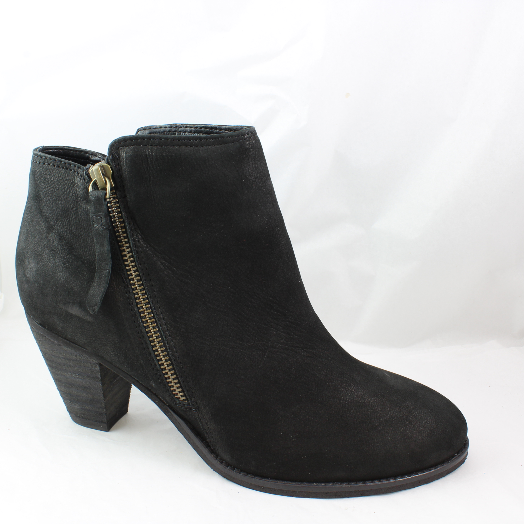 womens office black suede ankle boots uk size 6 ex