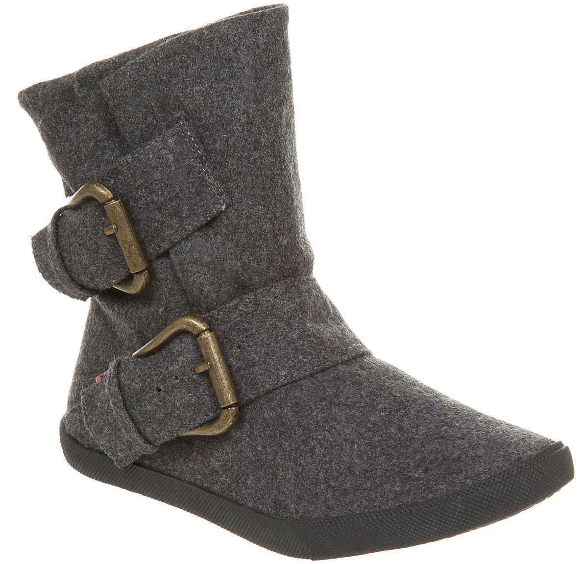 Womens-Blowfish-Hold-Em-Pirate-Ankle-Two-Tone-Grey-Buckle-Boots