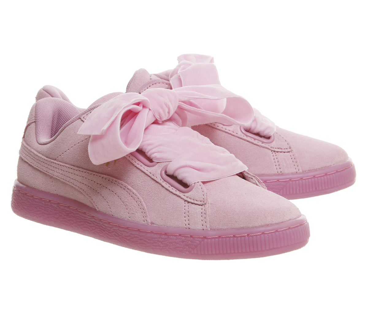 womens puma suede heart prism pink trainers shoes ebay. Black Bedroom Furniture Sets. Home Design Ideas