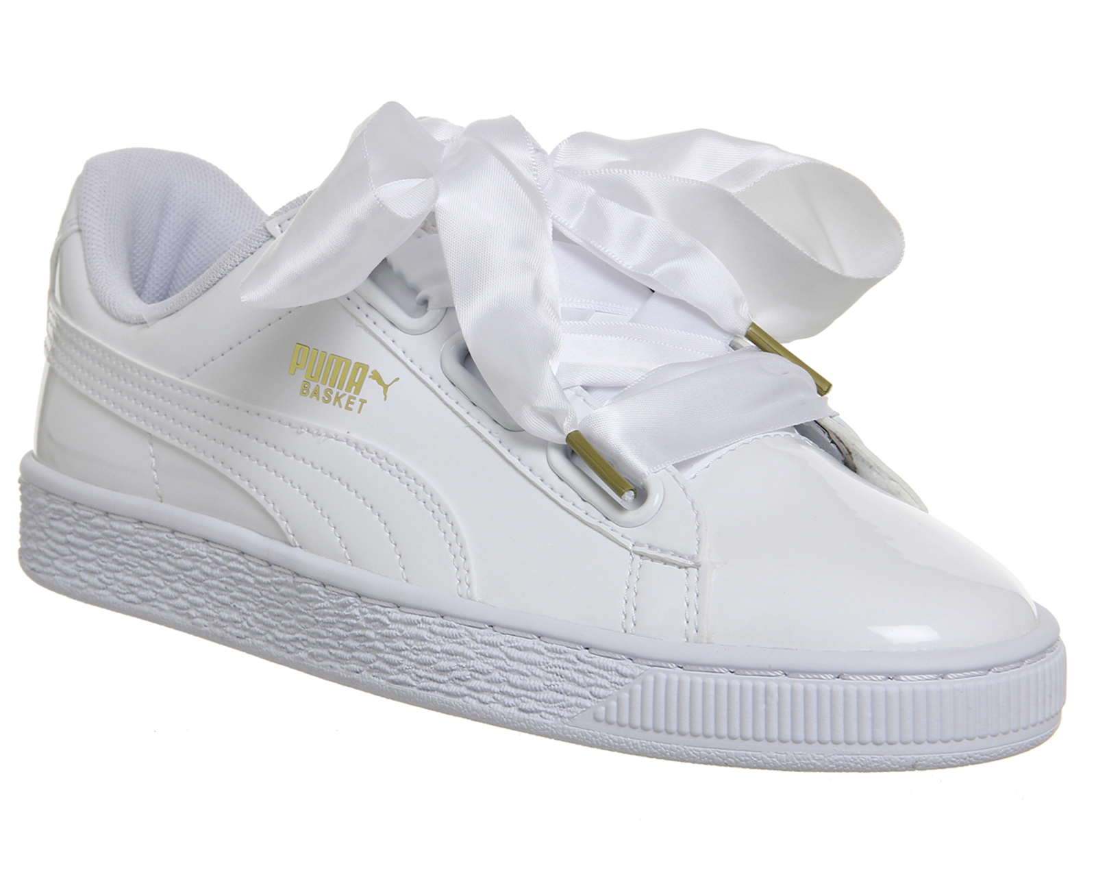 puma basket all white